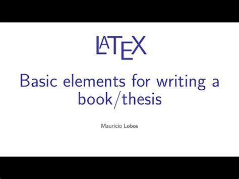 Thesis latex bibliography